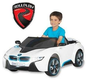 USED BMW I8 KIDS RIDE ON CAR WHITE - ROLLPLAY - RIDE-ON - 6V BATTERY POWERED TOY CHILDREN INDOOR OUTDOOR 78158257