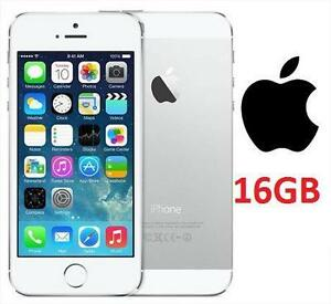 NEW APPLE IPHONE 5 16GB LOCKED  WHITE/SILVER - 16GB - CELL PHONE - SMART PHONE SMARTPHONE