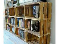 Wooden apple crates Bushell boxes Storage crate