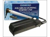 Interpet Aquarium Fish Tank Lighting Starter unit with light used for 3 months