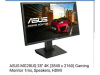 Asus mg28uq 4k 28 inch gaming monitor