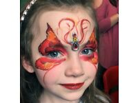 Face painter, face painting artist, for corporate events and parties.
