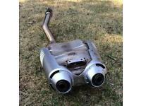 Fz6 S2 OEM exhaust can + cover