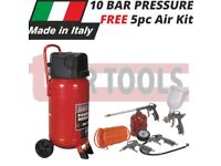 SEALEY SAC05020 10 BAR COMPRESSOR 50LTR BELT DRIVE 2HP OIL 5PC AIR TOOLKIT