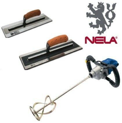 DRAPER EXPERT POWER MIXING DRILL 110V & NELA 14 SUPERFLEX MK 2 & 16 PLASTICFLEX