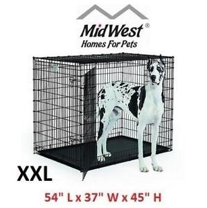 """NEW* MIDWEST DOUBLE DOOR DOG CRATE SL54DD 213119521 54"""" L x 37"""" W x 45"""" H"""