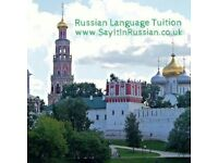 Russian Language Tuition with a qualified and experienced tutor.