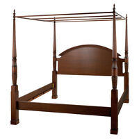 Bombay King bed, night tables & stairs