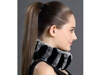 DAYMISFURRY -- Knit Rex Rabbit Fur Headband