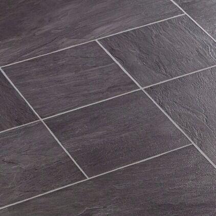 6 Packs Of Libretto Black Slate Effect Laminate Flooring