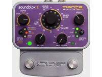 Source Audio SoundBlox Bass Manta guitar effects pedal with Hot Hand 3 brand new.
