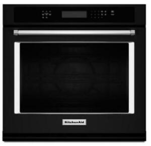 "KITCHENAID NEW KOSE507EBL 27"" SINGLE, 4.3 CU FT., TRUE CONVECTION,SELF CLEAN, FIT SYSTEM,SINGLE WALL OVEN(BD-1541)"