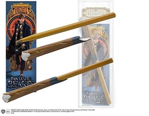NIP NEWT SCAMANDER  WAND PEN & BOOKMARK SET FANTASTIC BEASTS WHERE TO FIND THEM