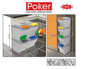 Pattumiera poker bama bidone rifiuti per raccolta - Contenitori raccolta differenziata per casa ...