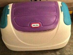Little Tikes Toy Box With Side Compartment &  Push Around Buggy