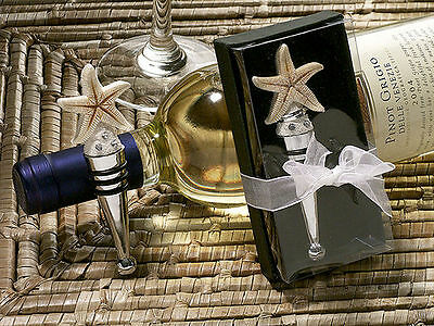 1 Sand Starfish Wine Bottle Stopper Wedding Favor Reception Barware Gift Party