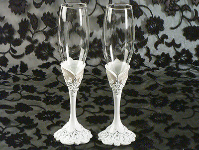 Eleganza Toasting Glass Set Wedding Toast Glasses Flutes ](Wedding Toast Glasses)