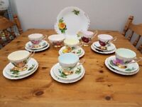 Harry Wheatcroft six world famous roses fine bone china tea set