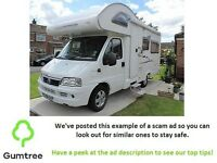 MotorHome Carrera - read the description before responding to the ad!