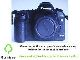 Canon EOS 5D Mark II 21.1MP digital camera body -- Read the ad description before replying!!