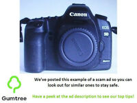 Canon EOS 5D Mark II 21.1MP digital camera body -- Read the ad description before replying!!
