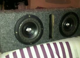 Twin bass box speakers