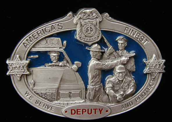 DEPUTY WE SERVE AND PROTECT BELT BUCKLE BUCKLES AMERICA
