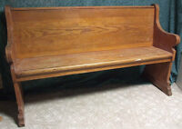 Wooden Church Pew by Montpetit