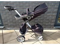 Stokke Xplory v3 pram in navy + accessories
