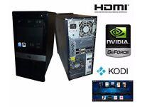 Quad Core Media & Gaming PC with Nvidia Graphics and Kodi Media Centre