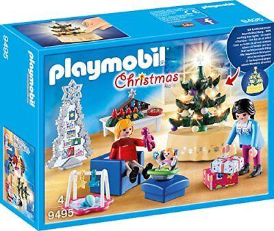 PLAYMOBIL Christmas 9495 Weihnachtliches Wohnzimmer, Ab 4 Jahren