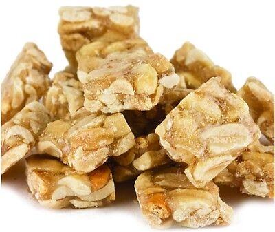 Peanut Brittle Squares 2lb, 3lb, 5lb, 10lb bulk deal - sweet, cruchy - Peanut Sweet Peanut Brittle