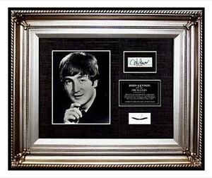 The-Beatles-JOHN-LENNON-Hair-lock-w-PHOTO-Signed-band-letter-relic-memorabilia