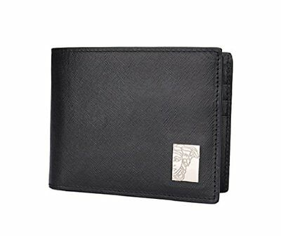 Versace Black Saffiano Leather Card Case Wallet