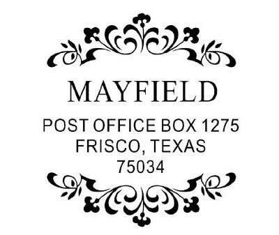 Custom Round Monogram Shiny Printer R532 Self-inking Addressinitial Stamp