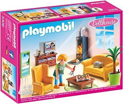 PLAYMOBIL® 5308 - Wohnzimmer mit Kaminofen, Dollhouse Kinder Spielzeug Nue 2018