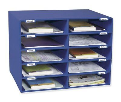 Pacon Classroom Keepers Classroom Mailbox - 10 Compartment[s] - Blue (PAC001309)