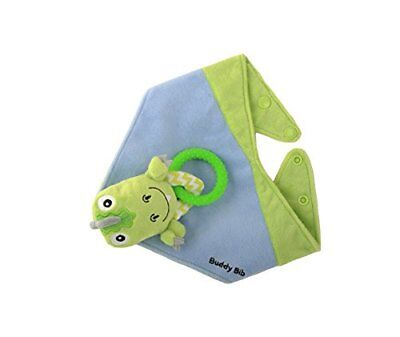 Malarkey Kids Buddy Sensory Teething Toy 3 in 1 Bandana Drool Bib T-eething Rex