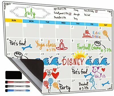 Dry Erase Calendar Fridge Magnetic Calendar White Board Planner For