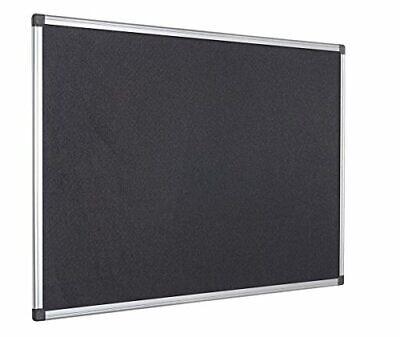 Pinnwand Wandtafel Tafel Filztafel Aluminiumrahmen 60 x 45 cm schwarz B-WARE