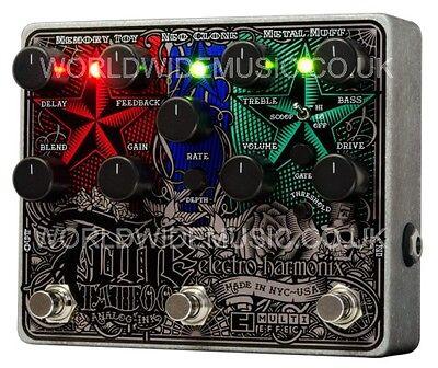 EHX Electro Harmonix Tone Tattoo Analog Multi Effects including power supply