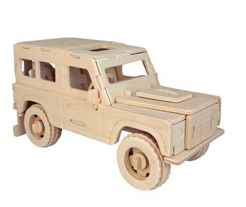 Land Rover Woodcraft Quay Construction Wooden Jeep 3d