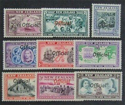 nystamps British New Zealand Stamp # O76-84 Mint OG H $58   L23x3160