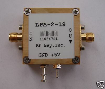 5-2000mhz 21db Gain 5v Rf Amplifier Lpa-2-19 New Sma