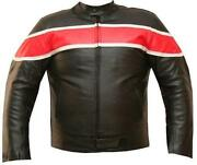 Mens Red Leather Motorcycle Jacket