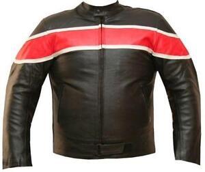 Mens Red Leather Jacket Ebay