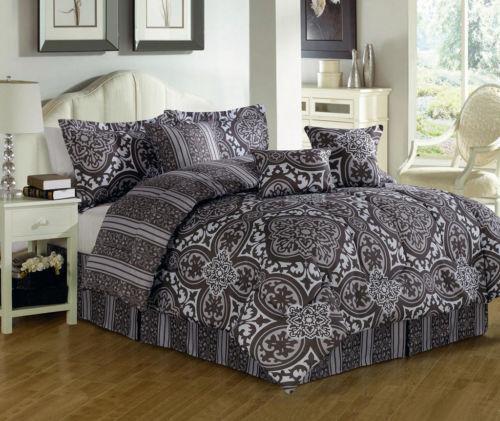 queen bed in a bag cotton ebay. Black Bedroom Furniture Sets. Home Design Ideas