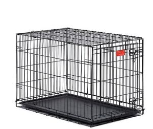 """Brand New In Box 42"""" Dog Metal Crate with Divider and Tray Black"""