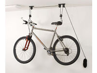 Pulley bicycle hanger, roof, holder, storage, bike, cycle