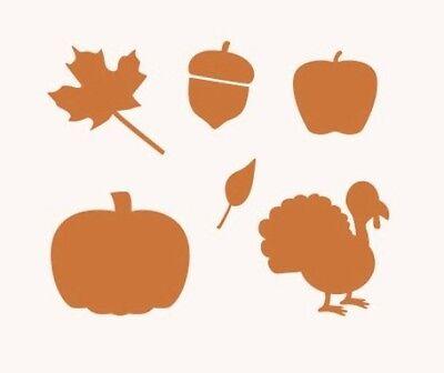 Stencil Autumn Leaves Turkey Apple Pumpkin Acorn Crafts Signs Projects  - Pumpkin Stencil